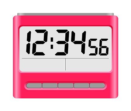 カレンダーと時計を映し込む